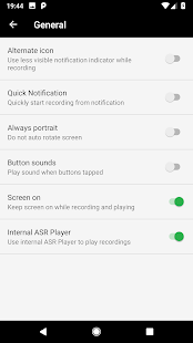 MP3 Voice and Audio Recorder - ASR Screenshot
