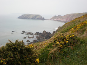 Photo: From Marloes Sands to Broad Haven(Ragged Rocks and Gateholm Island in the bkgrd)
