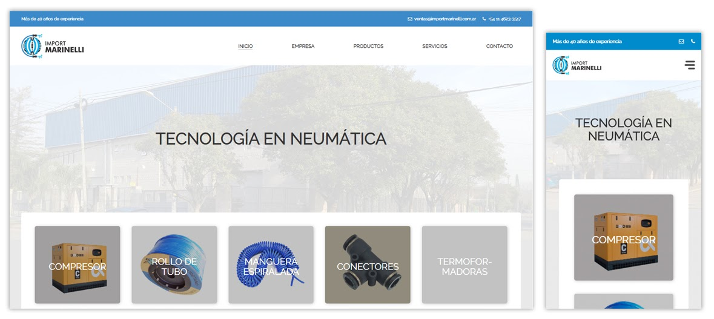 Sitio web Import Marinelli