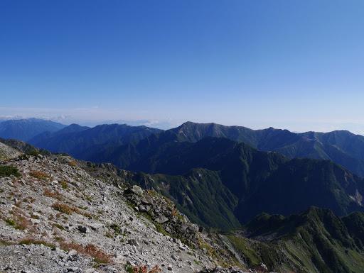 大天井岳方面