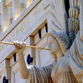 Bass Hall Trumpeter by Jen Hamrick - Buildings & Architecture Architectural Detail