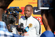 Kaizer Chiefs defender Siphosakhe Ntiya-Ntiya speaks to the media during a media day at the club's Naturena training base.