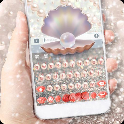 Beautiful Pearl Keyboard Theme Icon