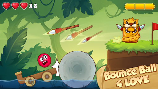 Bounce Ball 4 Love and Red Roller Ball 3 android2mod screenshots 2