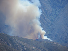 Photo: Williams Fire 2012, East Fork San Gabriel River about 20 minutes after it started