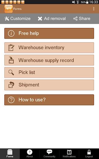 Warehouse Inventory Shipment