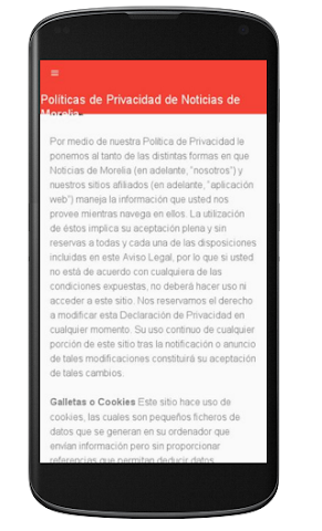 android Noticias de Morelia Screenshot 1