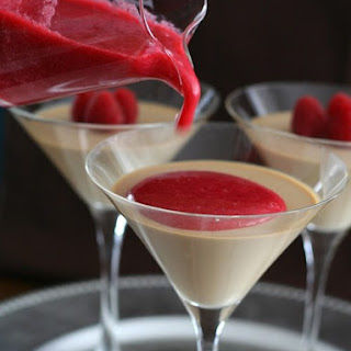 Coffee Panna Cotta with Raspberry Coulis – Low Carb and Gluten-Free.
