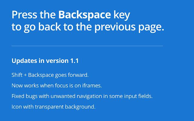 Backspace to go Back