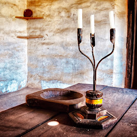 No WiFi,no electricity !  by Nelida Dot - Artistic Objects Antiques ( old house, candles, simple, simplicity, wood, lights )