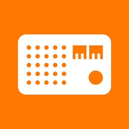Orange Radio Icon