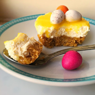 Mini Lemon Cheesecakes with Easter Eggs Recipe