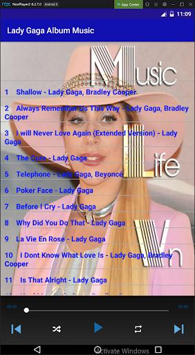 Lady Gaga Album Music App Report on Mobile Action - App Store