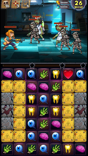 Zombie Blast - Match 3 Puzzle RPG Game modavailable screenshots 6