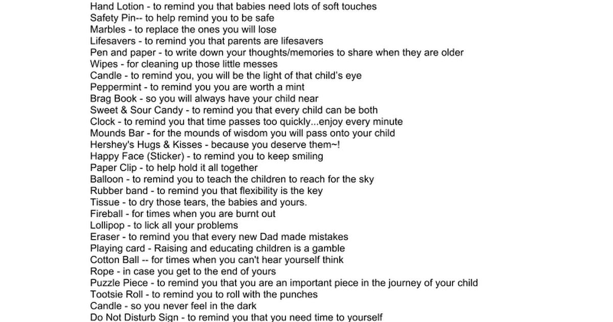 Survival Kit Poem | Wedding Tips and Inspiration
