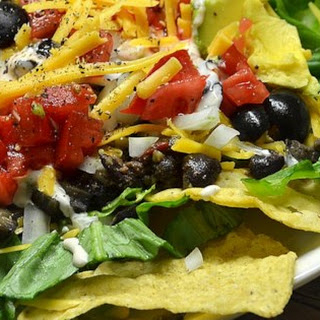 Easy Black Bean Taco Salad.