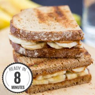Anti Hangover Peanut Butter Banana Sandwich (8 Min, Vegan).