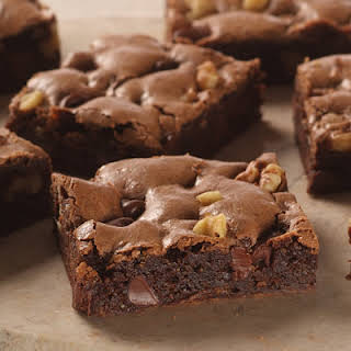 Easy Double Chocolate Chip Brownies.