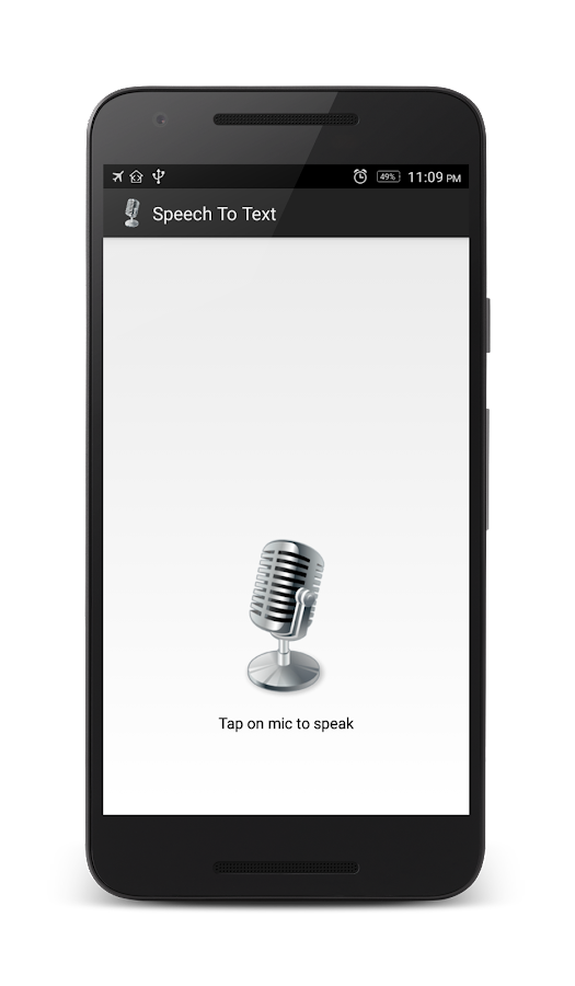 Speech to Text- screenshot