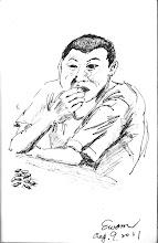 Photo: 嗑瓜子2011.08.09鋼筆 耶!大官走了!繼續大嗑瓜子!