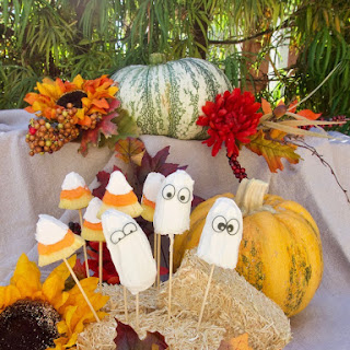 Halloween Candy Covered Fruit Treats - Costumed Fruit! Recipe