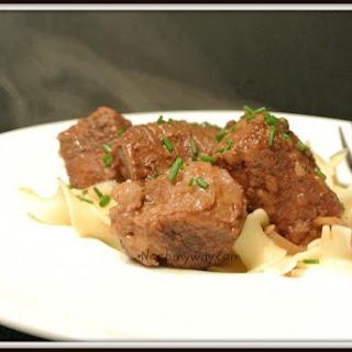 Slow-Cooked beef in Merlot