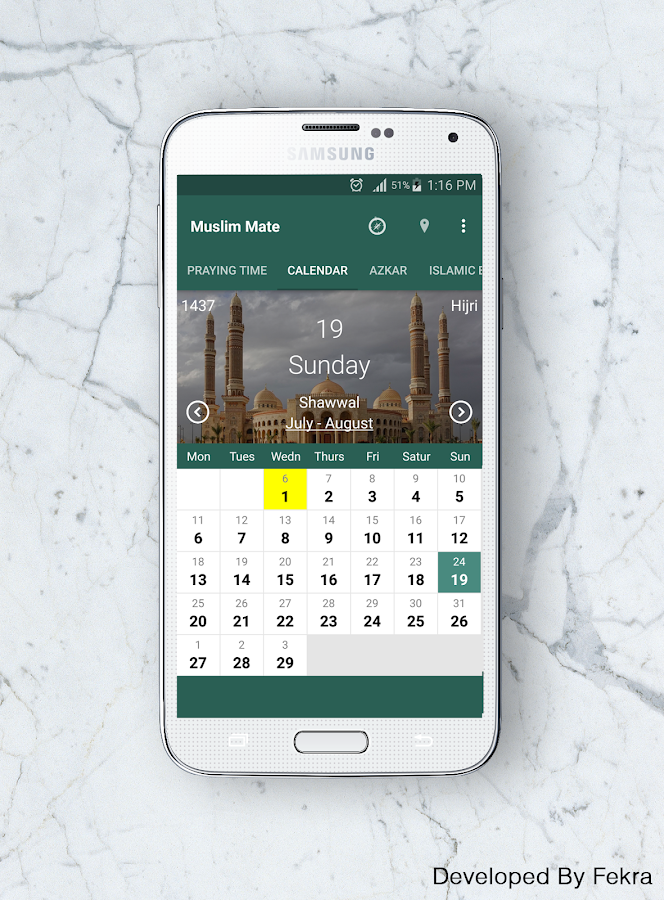 Muslim Mate:Pray Time,Calender- screenshot