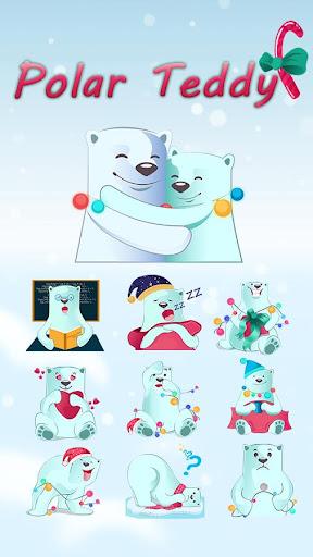 GOKeyboard Polar Teddy Sticker