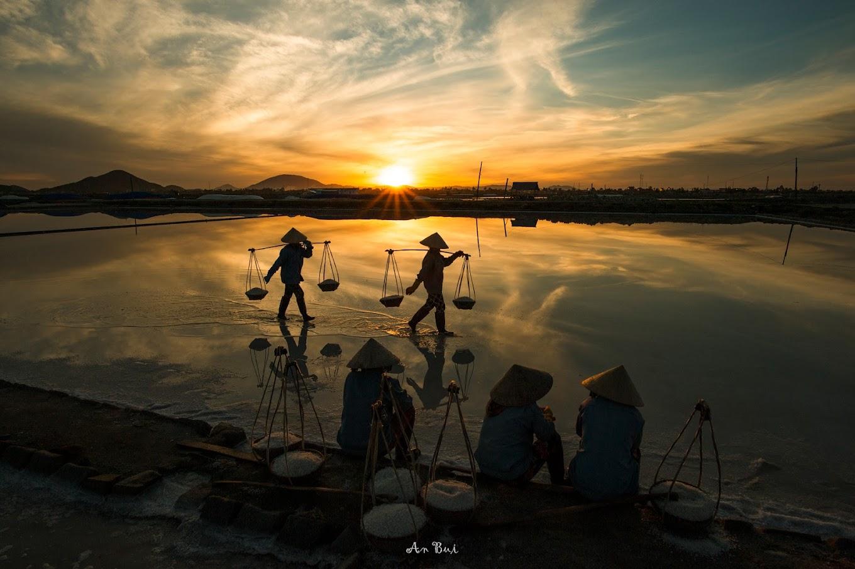 Sunrise at Hon Khoi salt field