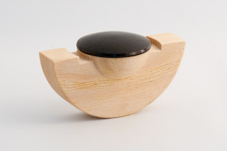 "Photo: Robert Brulotte - Rolling Box - 4"" x 2"" - Cyprus, African Blackwood"