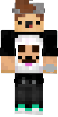 a mincraft skin that is morally based on what i like to wear and my favorite colors,animal