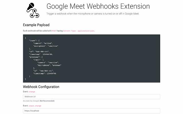 Google Meet Webhooks