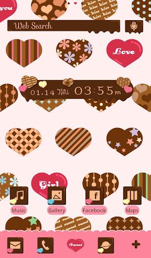 無料个人化Appのチョコレートハート-無料着せ替えアプリ|記事Game