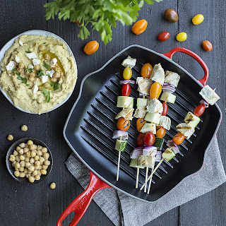 Mediterranean Kebabs with Hummus Recipe