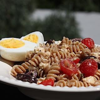 Whole Wheat Mediterranean Pasta Salad.