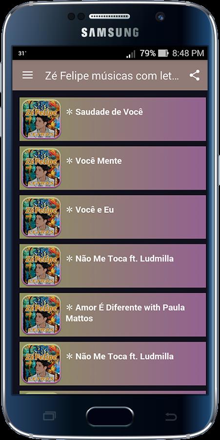 Screenshots of Zé Felipe músicas com letras for iPhone