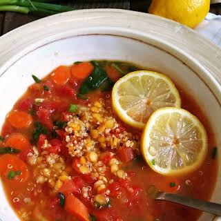 Quinoa Lentil Broth Bowl.
