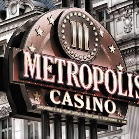 Metropolis Casino Sign by Daliana Pacuraru - Products & Objects Signs ( sign, daliana pacuraru, vintage, casino, hotels )