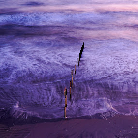 Purple Haze by Luke Albright - Landscapes Waterscapes ( waves, sand, coast, beach, purple, water, sea,  )