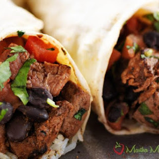 Tasty Tex-Mex Beef Steak Burritos
