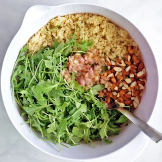 Quinoa & Arugula Salad with Lemon Vinaigrette.