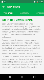 7-Minuten-Training Screenshot