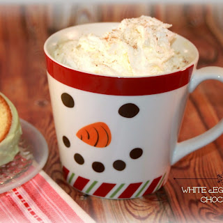 White Eggnog Hot Chocolate