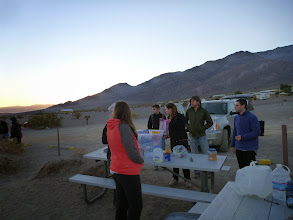 Photo: Stovepipe Wells: packing up.