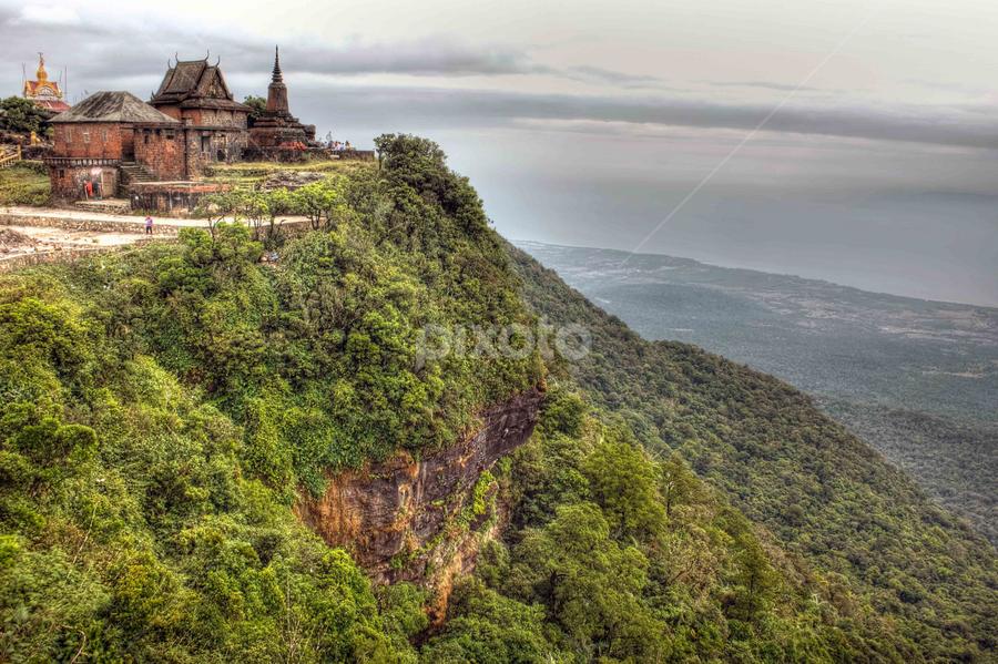 Pagoda 1920 by Bunnawath B-FOTO - Landscapes Travel ( old, pagoda, green, khmer, camboida )