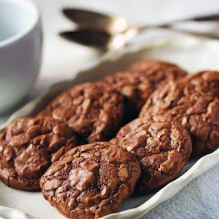 Chocolate Brownie Toasted Pecan Cookies