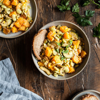 Autumn Lima Bean and Butternut Squash Succotash.