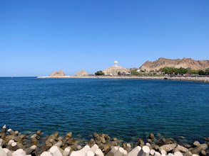 Photo: Muscat - Mutrah, view towards Al-Riyam park and monument