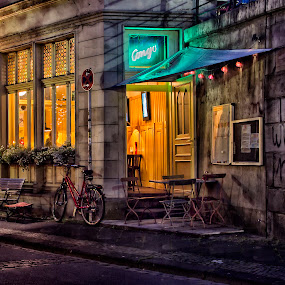 Congo Pub by Dietmar Pohlmann - City,  Street & Park  Markets & Shops ( nightshot, art, street, bistro, pub, city )