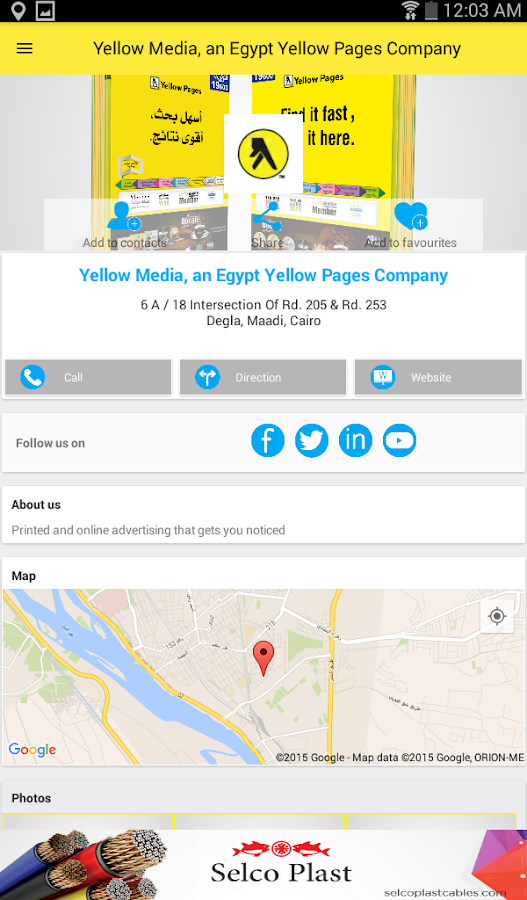 Egypt Yellow Pages- screenshot